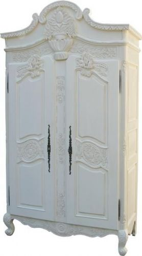 Louis Carved Double Armoire